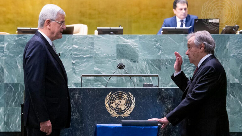 Mr Antonio Guterres is appointed by acclamation Secretary-General of the United Nations