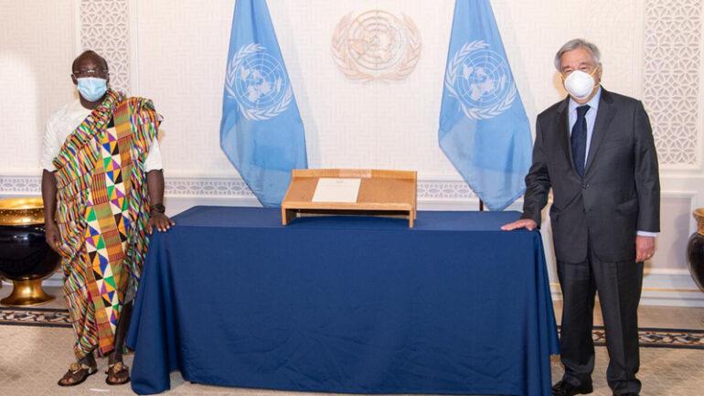 arold Adlai Agyeman, presented his credentials to the Secretariat